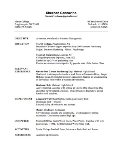 Adding an internship to a resume