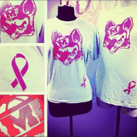 Fashionology limited edition Reynard Fox t-shirt. All proceeds went to the Miles of Hope Breast Cancer Foundation
