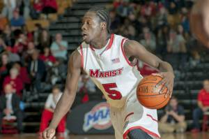 Sophomore Khallid Hart scored a career-high 33 points in Marist's season opener against Bucknell University. Photo credits to Marist Athletics.