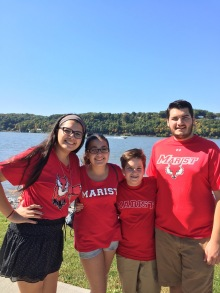 With my siblings during Family Weekend.