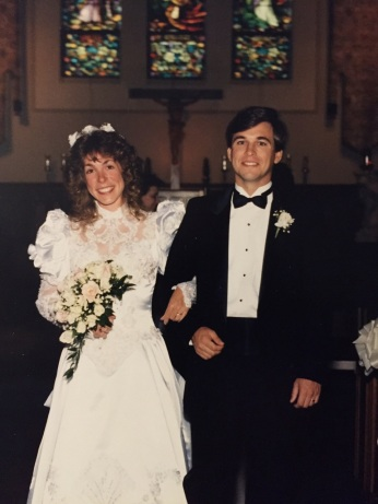 Our wedding day: August 3, 1991