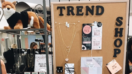 Trend shop at Marist MPorium; Fall 2017.
