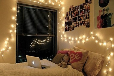 dorm fairy lights example